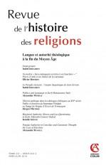 Revue de l'histoire des religions - Tome 231 (2/2014) Varia