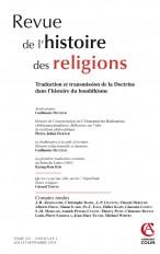 Revue de l'histoire des religions - Tome 231 (3/2014) Traduction et transmission de la Doctrine dans
