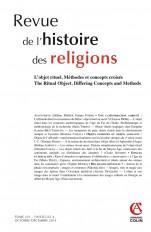 Revue de l'histoire des religions - Tome 231 (4/2014) L'objet rituel. Concepts et méthodes croisés