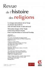 Revue de l'histoire des religions - Tome 232 (2/2015) Les images miraculeuses de la Vierge au premie
