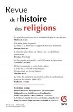Revue de l'histoire des religions - Tome 232 (3/2015) Varia