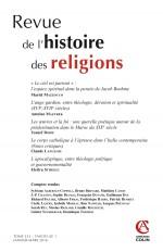 Revue de l'histoire des religions - Tome 233 (1/2016) Varia