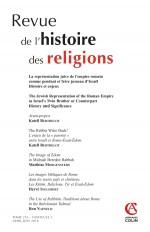 Revue de l'histoire des religions (2/2016) La représentation juive de l'empire romain comme pendant