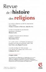 Revue de l'histoire des religions (3/2016) Varia