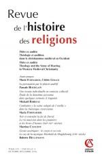 Revue de l'histoire des religions (4/2016) Fides ex auditu Théologie et audition dans le christianis
