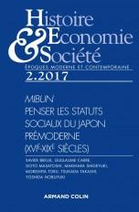 Histoire, Économie & Société (2/2017) Penser les statuts sociaux du Japon prémoderne (XVIe-XIXe sièc