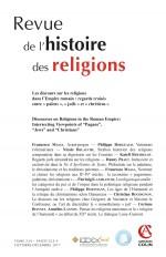 Revue de l'histoire des religions  (4/2017) Les discours sur les religions dans l'empire romain