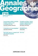 Annales de géographie - N°719 1/2018 Varia