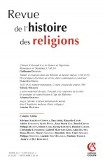 Revue de l'histoire des religions  (3/2018) Varia