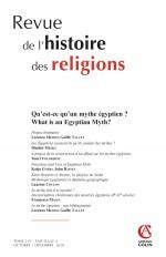 Revue de l'histoire des religions  (4/2018) Qu'est-ce qu'un mythe égyptien ?