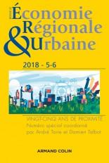Revue d'économie régionale et urbaine n° 5/2018 Vingt-cinq ans de proximité