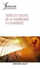 Le Français aujourd'hui Nº205 2/2019 Textes et gestes de la maternelle à l'université