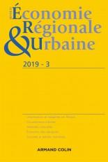 Revue d'économie régionale et urbaine n° 3/2019 Varia