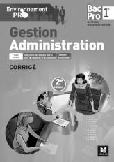 Environnement Pro - Gestion-Administration 1re BAC PRO GA - corrigé