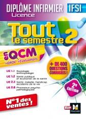 Tout le semestre 2 en QCM - QROC et évaluations IFSI - 2e édition