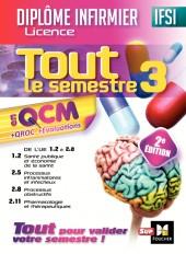 IFSI Tout le semestre 3 en QCM et QROC - Diplôme infirmier - 2e édition
