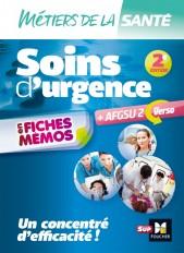 Métiers de la santé - Soins d'urgence - AFGSU en fiches mémos - Entrainement révision - 2e édition