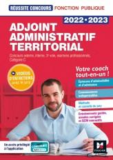 Réussite Concours - Adjoint administratif territorial - 2022-2023 - Préparation complète