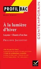 Profil - Jacottet : A la lumière d'hiver