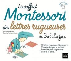 Le coffret Montessori des lettres rugueuses de Balthazar - Pédagogie Montessori