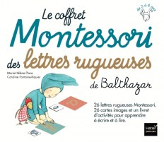 Le coffret Montessori des lettres rugueuses de Balthazar