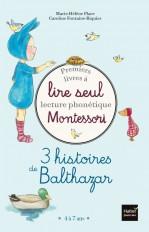 Coffret Premiers livres à lire seul - 3 histoires de Balthazar - niveau 2 - Pédagogie Montessori