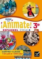 Animate - Espagnol 3e année LV2 Éd. 2017 - coffret CD/DVD