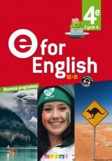 E for English 4e (éd. 2017)  - Livre
