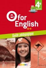 E for English 4e (éd.2017) - Guide pédagogique - version papier