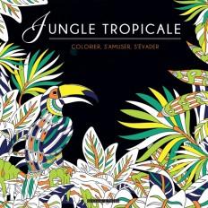 Black coloriage - Jungle tropicale
