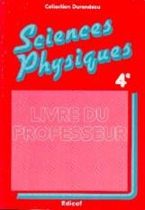 Sciences physiques 4e / Guide pédagogique