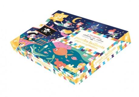 Puzzles brillants Pays imaginaires - 2 puzzles 24 pièces