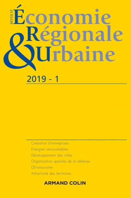 Revue d'économie régionale et urbaine n° 1/2019 Varia