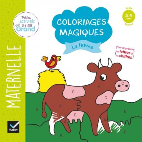 Coloriages Magiques La Ferme Ps Hachette Fr