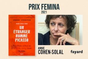 """Prix Femina 2021 : """"Un étranger nommé Picasso"""" d'Annie Cohen-Solal récompensé dans la catégorie essais"""
