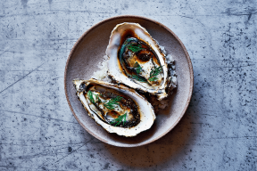 Huîtres creuses sauce ponzu : la recette de Stéphanie Le Quellec