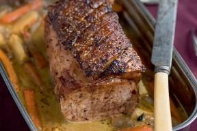 Rôti de porc glacé au sirop d'érable