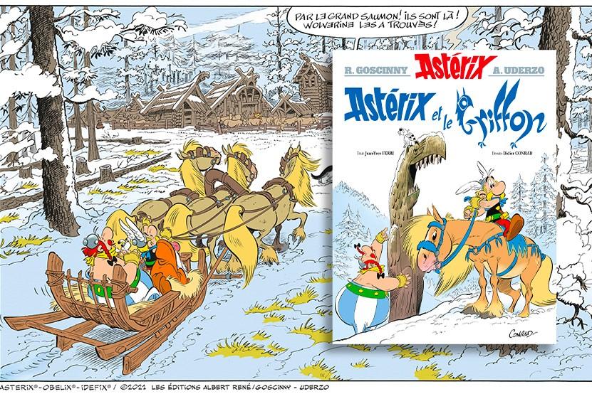 """Nouvel album Astérix : découvrez """"Astérix et le Griffon"""""""