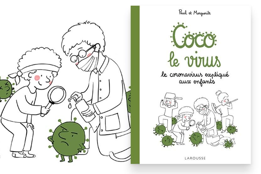 """""""Coco le virus"""" : le coronavirus expliqué aux enfants"""