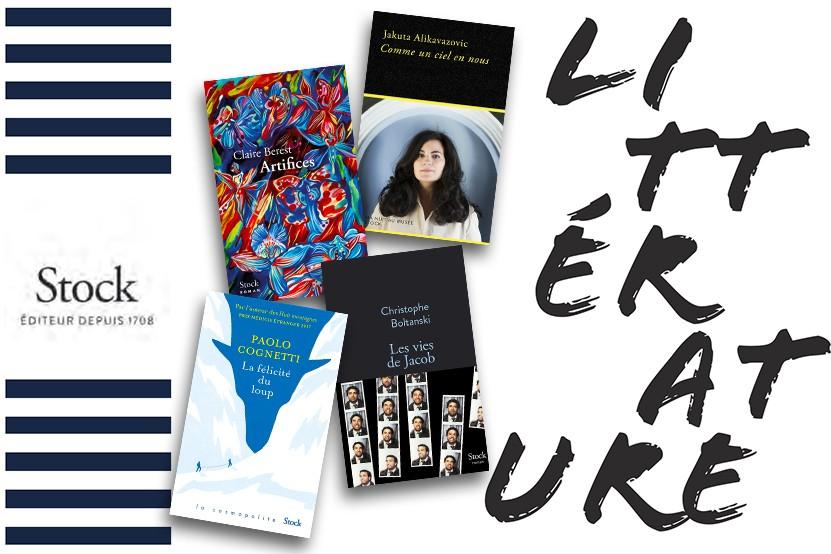 La rentrée littéraire 2021 des éditions Stock