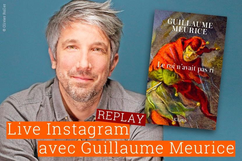 Replay : retrouvez le live de Guillaume Meurice