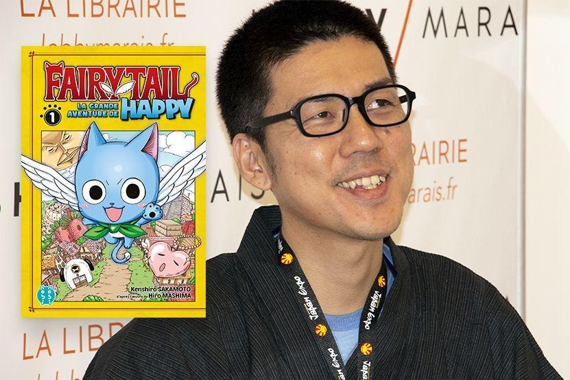 """Kenshirô Sakamoto présente """"Fairy Tail : La grande aventure de Happy"""" au cours d'un live-drawing"""