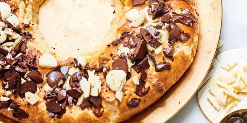 Recette : galette briochée aux deux chocolats