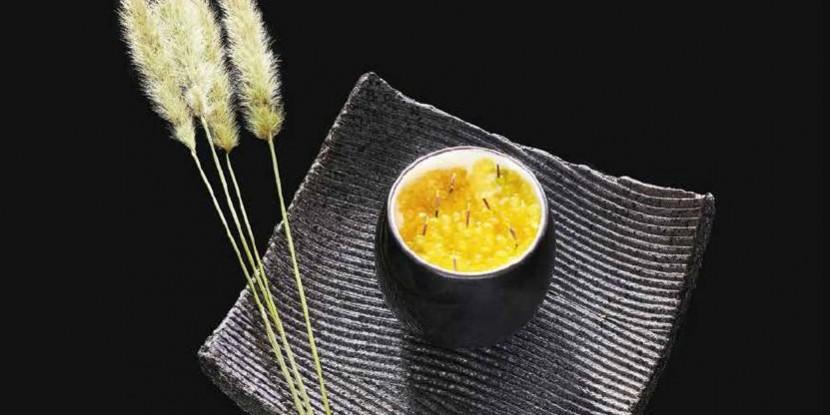 Patate douce, œufs de truite : la recette de Kei Kobayashi
