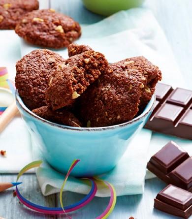 Cookies tout chocolat et noisettes