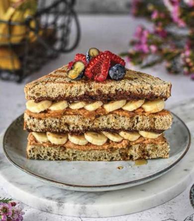 Sandwich peanut banana chocolate : la recette de Laura VeganPower