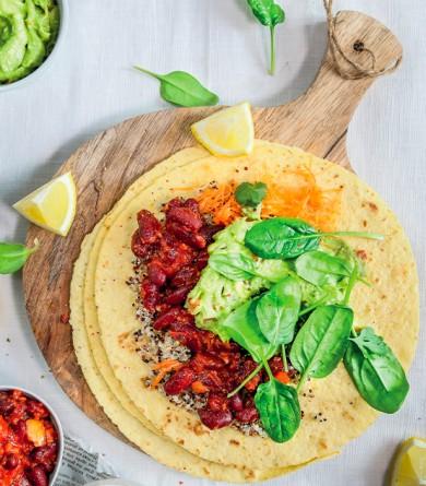 Burritos haricots rouges et purée d'avocat : notre recette gourmande et healthy