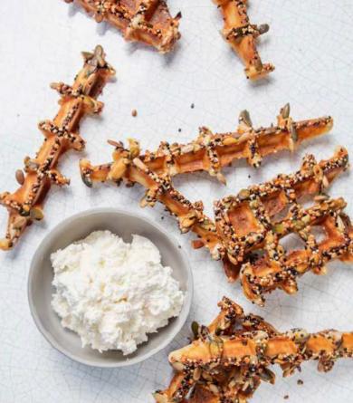 Recette de gaufres aux céréales saine et gourmande issue du livre d'Anasthasia Fitness