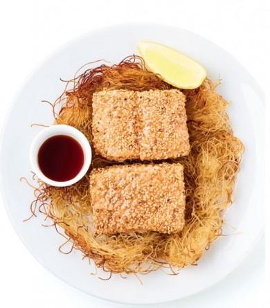 """""""Mon frigo parfait"""" : le saumon croustillant au sésame de Jean-François Mallet"""