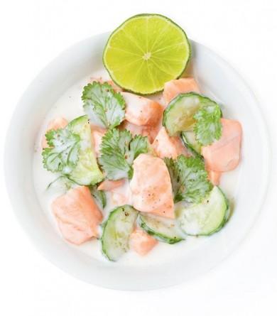 """""""Mon frigo parfait"""" : le saumon à la tahitienne de Jean-François Mallet"""